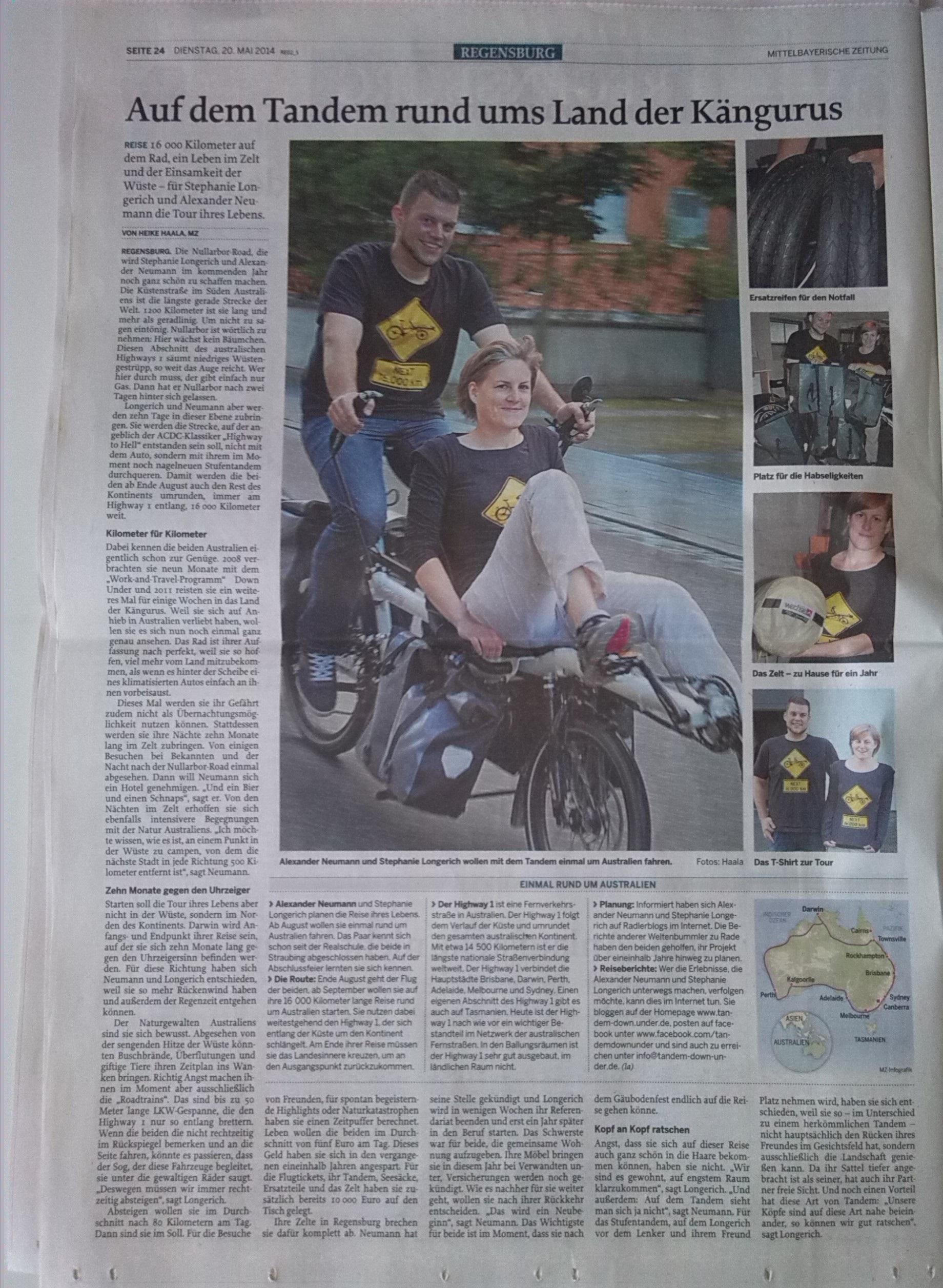 Mittelbayerische Zeitung 20-05-2014